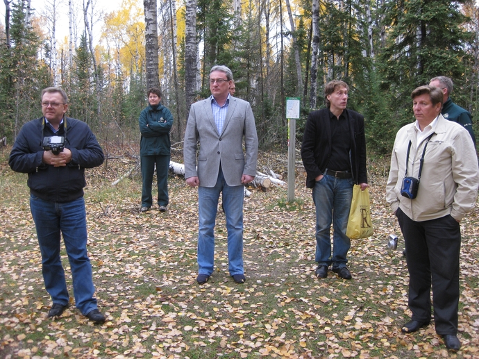 At the field excursion in Prince Albert National Park (Saskatchewan province).