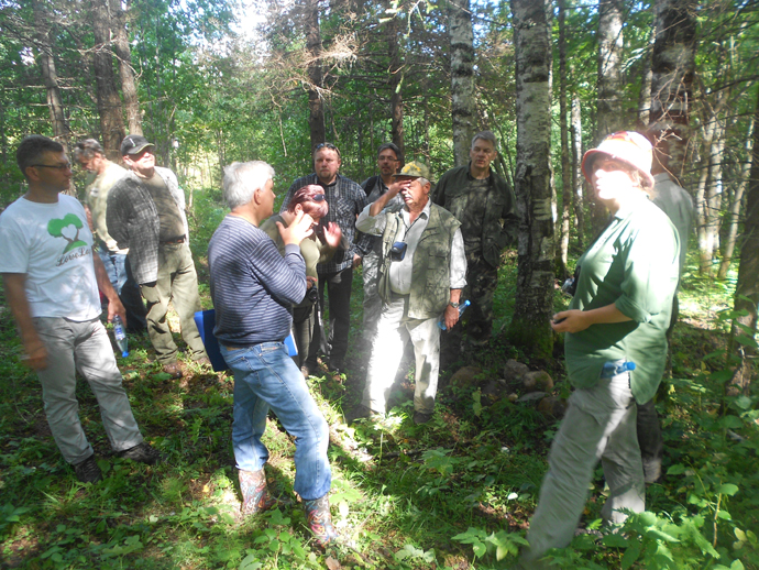 Polish foresters in Komi Model Forest