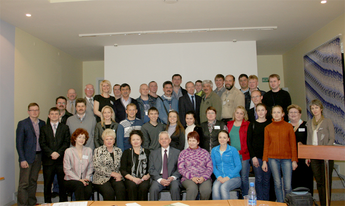 Participants of the trip with Pavel Azarenkov, Alexander Gibezh and representatives of the Syktyvkar Forest Institute