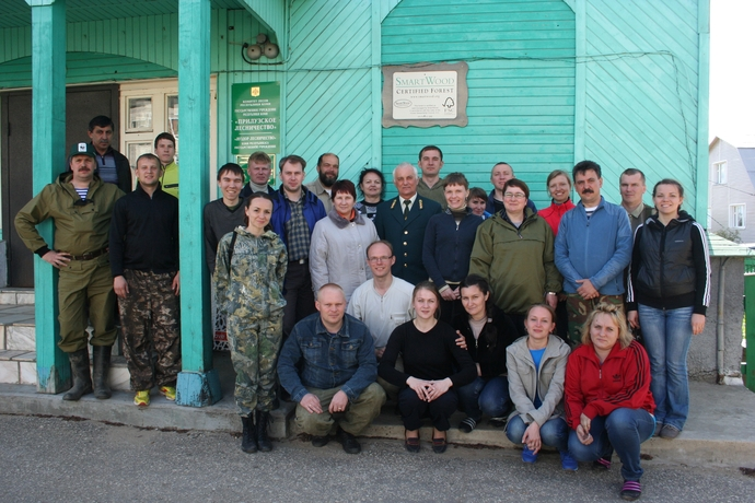 Teachers and students from Russian forest universities & Alexander Kindsfater