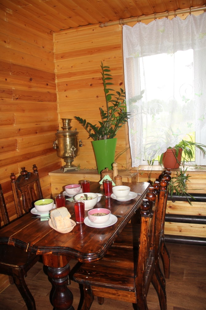 The canteen in a guesthouse