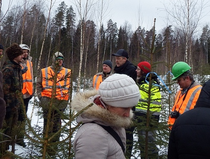 """The Forum participants are getting acquainted with """"Metsya Forest Podporozhye"""" experience of forest use"""