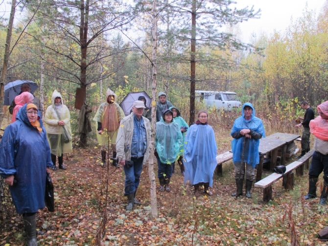Rainy weather did not affect the interest of the tour participants