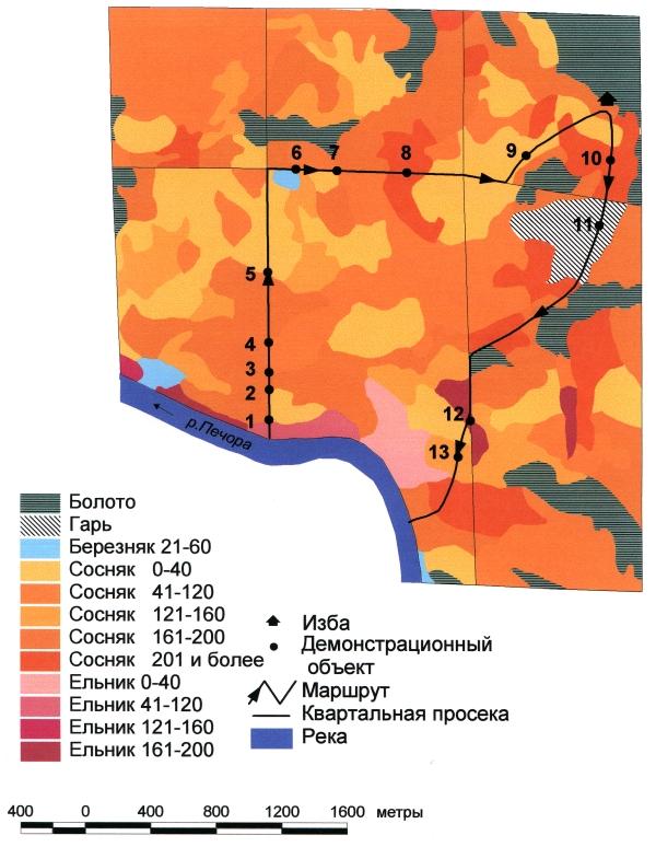 Печоро-Илычский Заповедник: демонстрационный маршрут №1